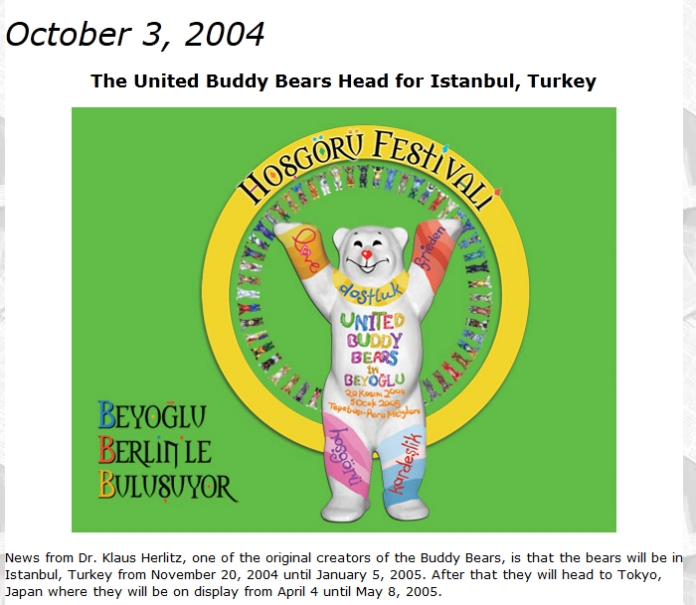 The United Buddy Bears Head for Istanbul, Turkey